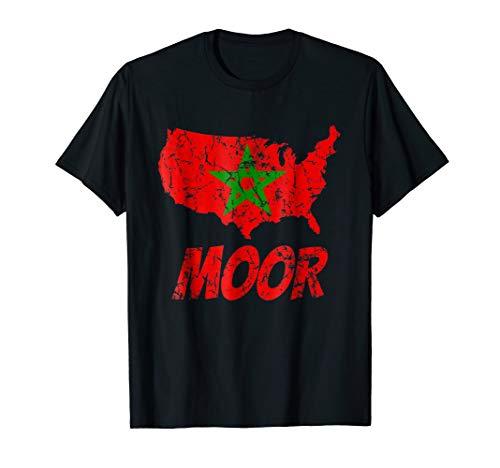 Mens Fez - Moorish American T-Shirt America Fez Moroccan Flag Tee
