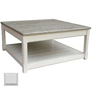 Cottage square coffee table grey kitchen dining for Coffee tables on amazon
