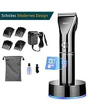 Haarschneidemaschine für herren, Kebor Profi Haarschneider Set Langhaarschneider Haartrimmer, LCD-Bildschirm, Li-ion Batterie Akku, Elektrisch Trimmer für Männer mit Adapter und Ladestation Komplett