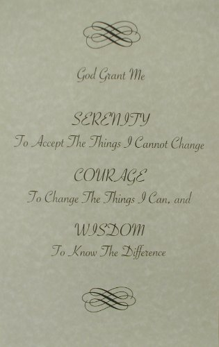 Alcoholics Anonymous a Serenity Prayer on Fine Parchment