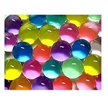 JellyBeadz Magic Rainbow Color Flower Plant Crystal Water Gel Beads Jelly Water Pearl For Centerpiece Office Wedding Art Vase Filler Crystal Soil Mud Water Gems Balls