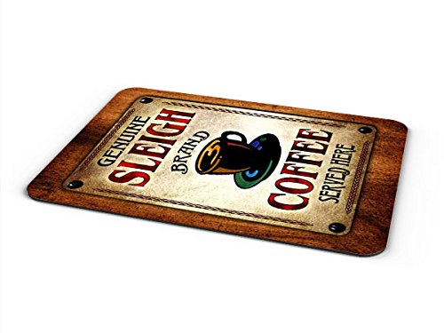 Sleigh Coffee Mousepad/Desk Valet/Coffee Station Mat - Mouse Sleigh