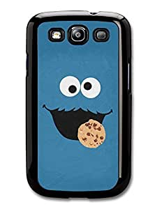 AMAF ? Accessories Cookie Monster Muppet Blue Face Minimalist Poster TV Show case for Samsung Galaxy S3