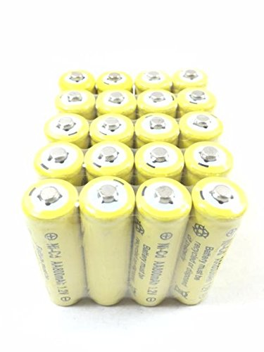 Solar Light AA Ni-Cd 800mAh Rechargable Batteries P (Pack of 20)