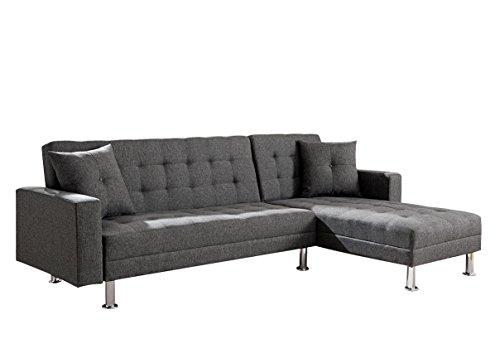 Milton Greens Stars 8036-Gray Sectional Sofa, Gray