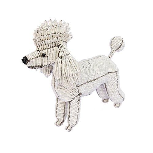 Beadworx Grass (Grass Roots Creations Poodle Dog Beadworx Sculpture, White)