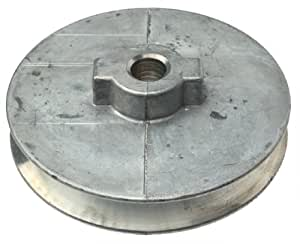 """Chicago Die Cast 400A  4"""" x 1/2"""" Die-Cast V-Grooved Pulley"""