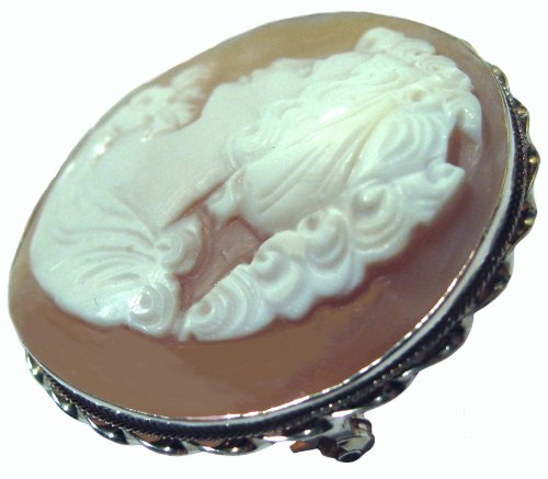 Cameo, Brooch, Pendant, Summer Love, Italian, Master Carved, Conch Shell, by cameosRus (Image #2)