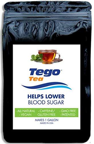 Tego Tea Herbal for Sugar Diabetes Control, (1 Bag) Makes 21 (6 oz. Servings) with Bonus Reminder ()