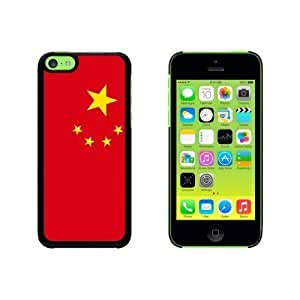 China Flag Snap On Hard Protective For HTC One M7 Phone Case Cover - Black
