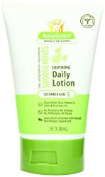 BabyGanics Smooth Moves Lotion, Cucumber Aloe, 3 Ounce (Pack of 1), Packaging May Vary