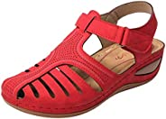 Elegant Sandals for Women,Ladies Girls Comfortable Ankle Hollow Round Toe Sandals Soft Sole Shoes