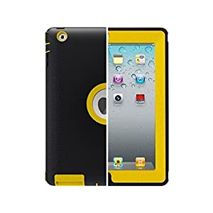 oterbox– Funda con protector de visualización y soporte para el nuevo iPad (4ª generación), iPad 2 y 3 – Hornet Amarillo/Negro