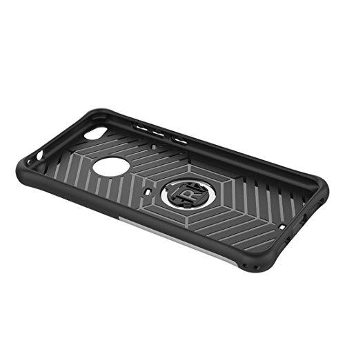 Mobile Phone Cases&decorate Huawei P8 Lite (2017) resistente a los golpes 360 grados Spin Tough Armor TPU + PC Caja combinada con soporte