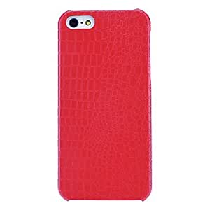 ZCL Dragon Scale Textured PU Hard Case with Interior Flocking Protection for iPhone 5/5S (Optional Colors) , Brown