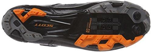 Scott MTB Comp - Zapatillas de ciclismo de material sintético para hombre negro negro negro - Schwarz (Black Gloss/Orange)