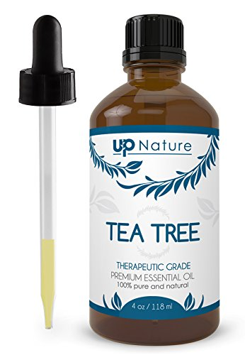 UpNature The Best Tea Tree Oil 4 OZ - 100% Pure & Natural, Undiluted & Unfiltered, Premium Quality With Glass Dropper - Many Uses - Use to Make Soap, Cream, Shampoo & Face And Body Wash