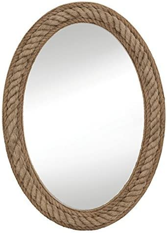 Amazon Com Bassett Mirror M3646ec Rope Wall Mirror Jute Home Kitchen