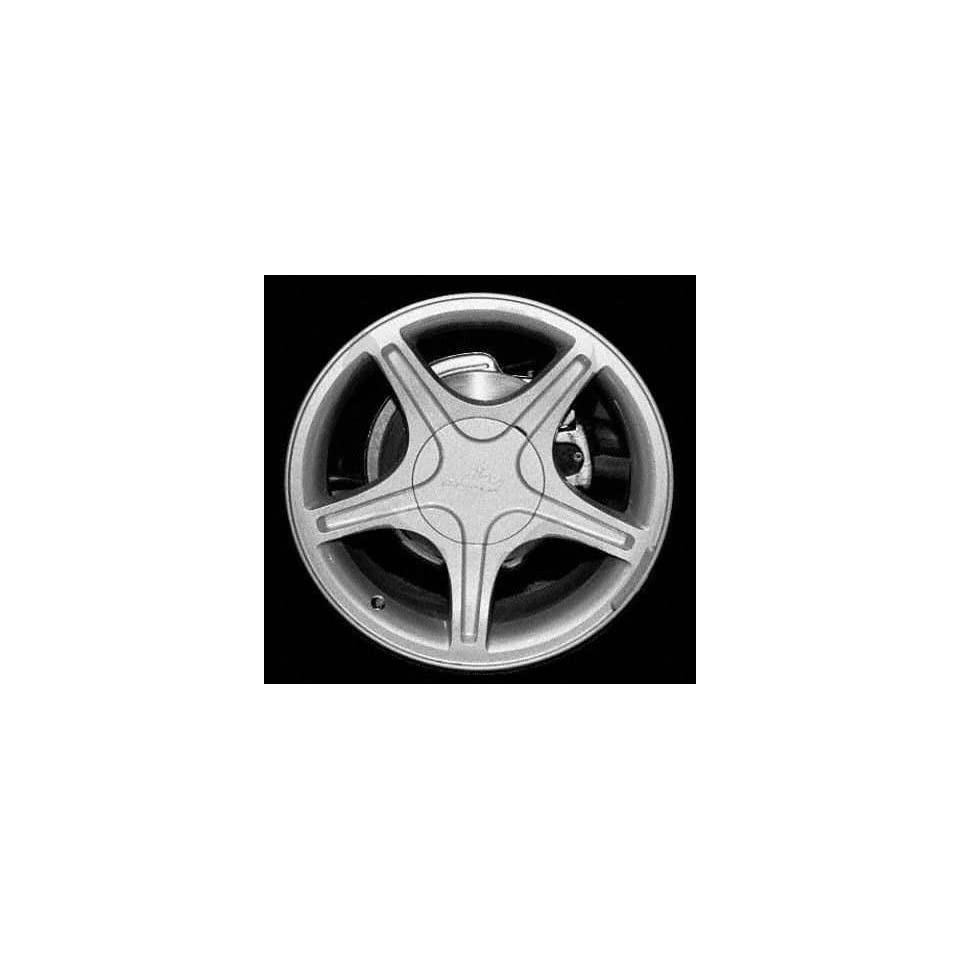 99 03 FORD MUSTANG ALLOY WHEEL RIM 17 INCH, Diameter 17, Width 8 (5 SPOKE, W/O EXPOSED NUTS), MACHINED FACE. BRIGHT SILVER VENTS, 1 Piece Only, Remanufactured (1999 99 2000 00 2001 01 2002 02 2003 03)