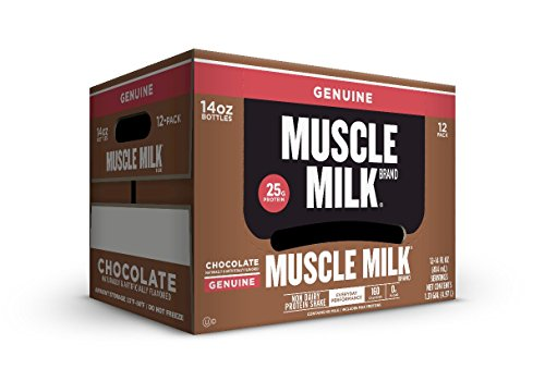 Muscle Milk Genuine Protein Shake, Chocolate, 25g Protein, 14 FL OZ, 12 count