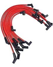 YANGJIAOLIAN Red 10.5mm Racing Spark Plug Wires Set Fit for Ford 5.0L 5.8L, SB SBF 302 Fit for Ford F-150 1979-1995 Fit for Ford Mustang 1964-1995