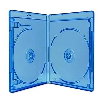 10 x Doble (2) Disco BLU-Ray 11 mm Almacenamiento Casos con Logo – Marca Dragon Trading®
