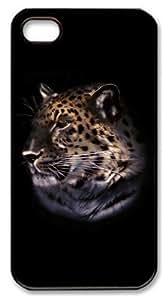 meilz aiaiiphone 4 case customizable Tiger N03 PC Black for Apple iPhone 4/4Smeilz aiai