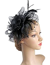 Flower Cocktail Tea Party Headwear Feather Fascinators...