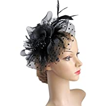 Flower Cocktail Tea Party Headwear Feather Fascinators Top Hat for Girls and Women