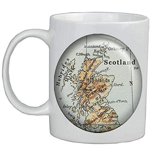 Scotland map Coffee Mug,Scotland map jewelry map jewellry Edinburgh map Glasgow map Scottish Highlands traveler's gift,ot2