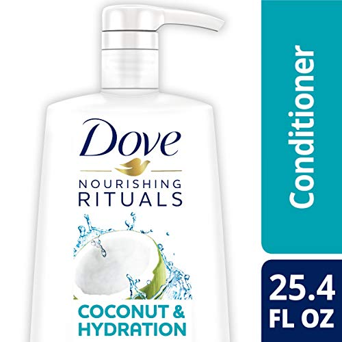 DOVE HAIR Nourishing Rituals Fresh Coconut Conditioner With Pump, 25.4 Ounce