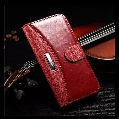 Fundas y estuches para teléfonos móviles, iPhone 7, además de caja de la carpeta del cuero genuino de lujo con los titulares de tarjetas para el iphone 6s 6 más ( Color : Negro , Modelos Compatibles : Blanco