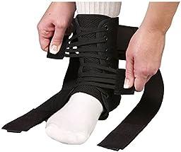 MedSpec ASO EVO Speed Lacer Ankle Brace Stabilizer Black Medium