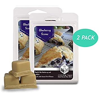 BAC Home Blueberry Scone Soy Blend Scented Wax Melts Wax Cubes, 2.5 oz, [6 Cubes] (2)