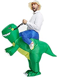 Inflatable Dinosaur T-REX Costume | Inflatable Costumes for Adults| Halloween Costume | Blow Up Costume (Green Dinosaur Adult)