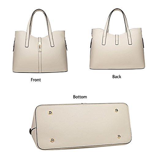 à de tout la sac main Set Beige PU titulaire fourre bandoulière à SIFINI 4pcs Sac carte en à Mode cuir Femmes main sac F7aFwqnZ81