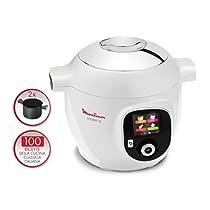 Moulinex Cookeo, Sistema di Cottura Multifunzione, Multicooker Intelligente con 100 Ricette della Cucina Classica Italiana, Seconda Pentola Inclusa