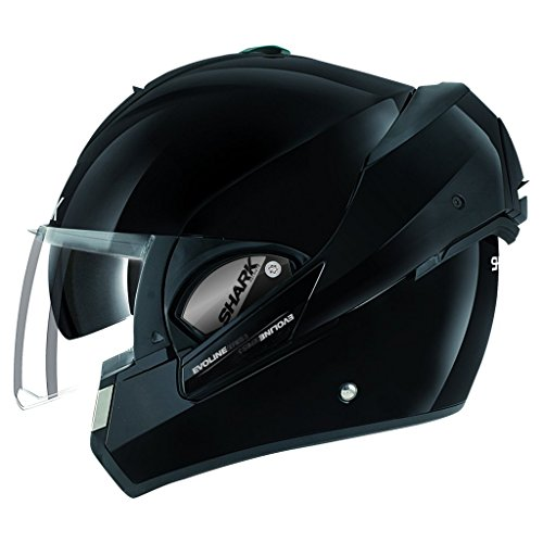Shark Unisex-Adult Full Face Evoline 3 Uni Helmet (Black, X-Large) (Helmet Face Shark)