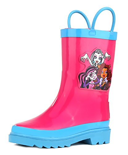 Monster High Girls Hot Pink Rain Boots - Size 9 Toddler