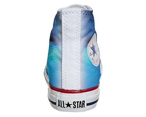 Converse All Star Hi Personnalisé et Imprimés chaussures coutume, Sneaker Unisex (produit Italien artisanal) des yeux