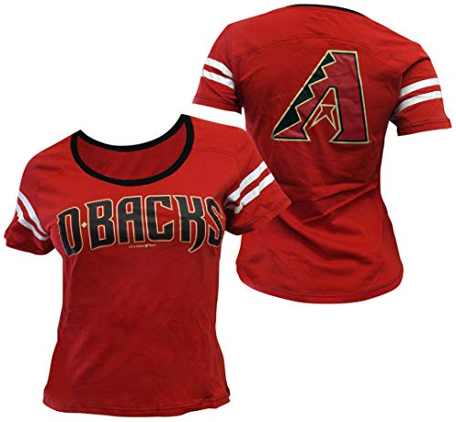- 5th & Ocean Arizona Diamondbacks Women's Baby Jersey S/S Scoop Neck X-Large