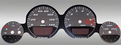 Speedo Base (US Speedo MAG061 - Daytona Edition Gauge Faces - Black / Silver Night - 140 MPH - for: Dodge Mag / Charg / Challenger Base)