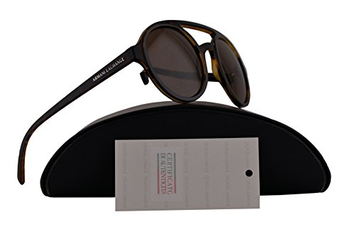 Armani Exchange AX4060S Sunglasses Matte Tortoise Top Shiny w/Brown Lens 50mm 821373 AX - Armani Exchange Cheap Sunglasses