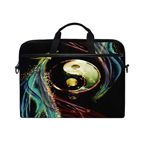 - Personalized Yin and Yang Gossip 14 15inch Laptop Case Laptop Shoulder Bag Notebook Sleeve Handbag Computer Tablet Briefcase Carrying Case Cover with Shoulder Strap Handle for Men Women Travel/Busine