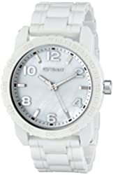 Sprout Men's ST/7000MPWT Link Bracelets Mother-Of-Pearl Dial White Corn Resin Watch