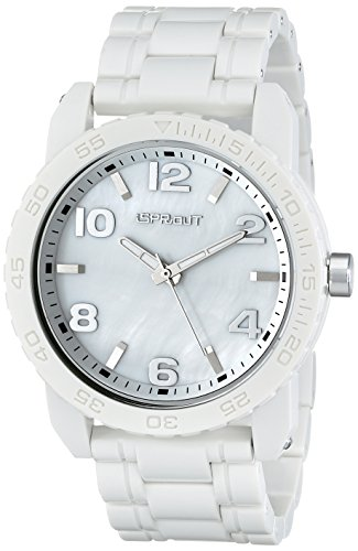 Sprout Men's ST/7000MPWT Link Bracelets Mother-Of-Pearl Dial White Corn Resin - Dial Link Pearl
