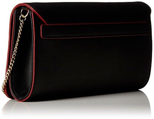 Love Moschino - Borsa Calf Pu Nero, Bolsos bandolera Mujer, Schwarz (Black), 13x26x6 cm (B x H T)