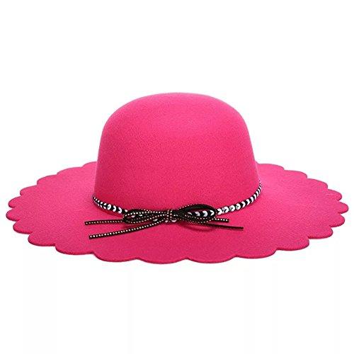 Modo Delle Rose Donne Sole Cappello Tesa Del Delle Di Ampia Del Zerci Signore qwaX11T
