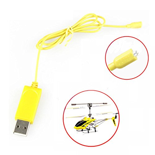 Rc Helicopter Videos - Dacawin RC Helicopter Syma S107 S105 USB Mini Charger Charging Cable Parts (Yellow)