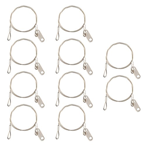 """10 Pack Length 12"""" / 30cm Stainless Steel Safety Cables Hook"""
